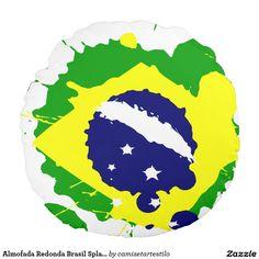 Almofada Redonda Brasil Splash