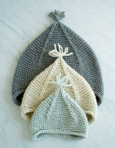 Laura's Loop: Garter Ear Flap Hat