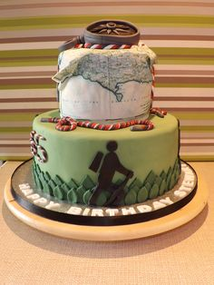 Hiking' themed birthday cake