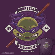 """Donnie does Machines"" by Crystal Fontan aka Bamboota.   Donatello TMNT design."