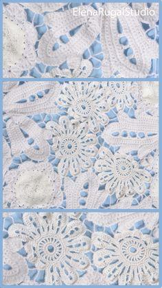 Crochet Flowers, Crochet Lace, Irish Crochet Patterns, Irish Lace, Simple Designs, Needlework, Quilts, Blanket, Youtube