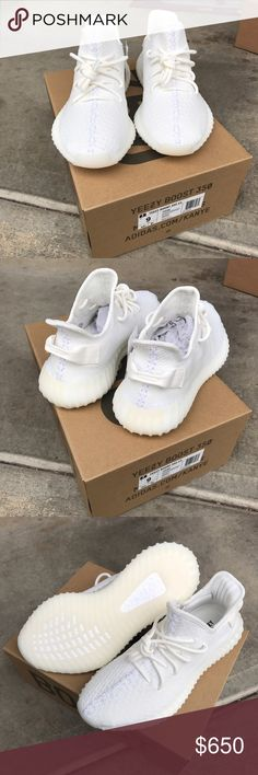 Adidas Yeezy boost 350 cream whites Helo poachers!! I was fortunate to be able to pick up two pairs this past weekend// these yeezy were ordered online from adidas // size 9 / DEADSTOCK ! / pics taken from pickup // yeezy boost // will ship in the box that adidas shipped it to me // any more picks and update let me know // only sell here in poshmark Yeezy Shoes Sneakers