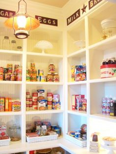 general store style pantry! love this. http://www.sugarpiefarmhouse.com/a-fresh-start
