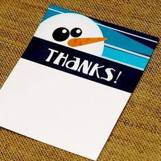 Winter Party Thank You Card