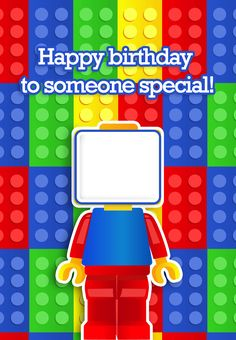 Ideas Birthday Invitations Card Design Free Printable For 2019 Lego Birthday Cards, Free Printable Birthday Cards, Special Birthday Cards, Free Birthday Card, Birthday Card Template, Birthday Cards For Boys, Happy Birthday Cards, Birthday Greeting Cards, Birthday Greetings