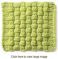 Pie Crust Basketweave:Alternating knit and purl stitches created this richly textured pattern. (multiple of 8 sts plus 10)Rows 1 and 3 (WS) K4, *p2, k6; rep from *, end p2, k4. Row 2 P4, *k2, p6; rep from *, end k2, p4. Row 4 Knit. Rows 5 and 7 K8, *p2, k6; rep from *, end p2, k8. Row 6 P8, *k2, p6; rep from *, end k2, p8. Row 8 Knit.  Rep rows 1-8.