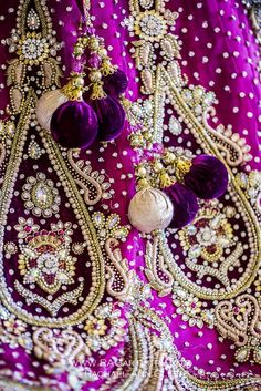 Purple + gold www.weddingstoryz.com Wedding Storyz | Indian Bride | Indian Wedding | Indian Groom | South Asian | Bridal wear | Lehenga | Bridal Jewellery | Makeup | Hairstyling | Indian | South Asian | Mandap decor purple violet