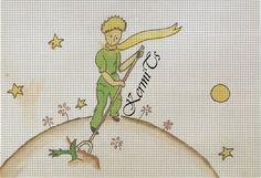 the little prince cross-stitch - küçük prens kanaviçe