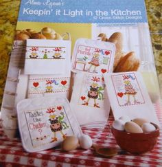 Keeping it Light in the Kitchen - Cross Stitch Pattern Booklet 290239