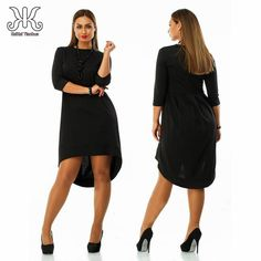 2017 women plus size dress O Neck Pockets Casual dresses Knee Length plus  size women clothing patchwork bodycon dress 5XL 6XL-in Dresses from Women s  ... 0999c9a7ca71