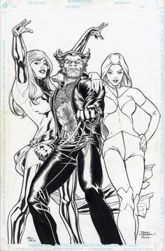 Wolverine, White Queen, and Phoenix by Terry Dodson
