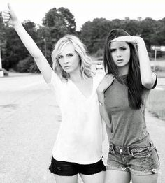 Candice Accola and Nina Dobrev