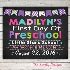 First day of School ANY Grade Last Day of by TheLovelyDesigns