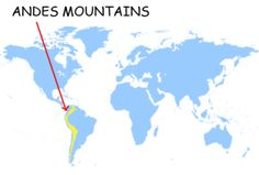 The Andes Mountains On A Map