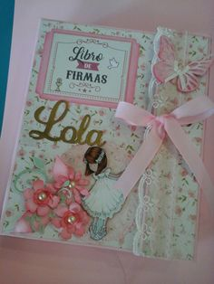 Libros de firmas Mini Scrapbook Albums, Mini Albums, First Communion, Diy Christmas Gifts, Vintage Cards, Scrapbooks, Diy Gifts, Cardmaking, Craft Projects
