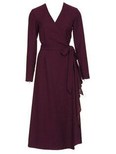 Платье с запахом - выкройка № 123 A из журнала 10/2011 Burda – выкройки платьев на Burdastyle.ru