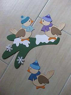 ✿ Window picture ✿Cardboard ✿Birds, winder ✿ XXL 39 x 37 cm✿ NEW - Vogel Winter Crafts For Kids, Winter Kids, Winter Art, Kids Christmas, Christmas Crafts, Christmas Decorations, Diy Arts And Crafts, Paper Crafts, Mushroom Crafts