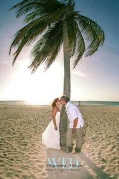 Palm tree smooches, mesmerising sunset hours & Romance in the air, what more can you ask for   #romantic #sunset #palmtrees #tropical #wedding #weddingdestination #caribbean #weddingplanners