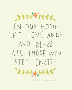 inspirational art print with quote, kitchen art, typography print, quote art, motivational poster, new house print - HOME SWEET HOME. $18.00, via Etsy.