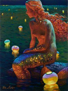 Siren song - Victor Nizovtsev 1965 - Russian Fantasy painter - Tutt'Art@ (6)