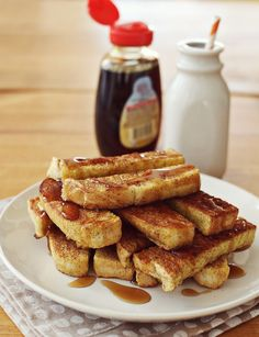 Baked French Toast Sticks I'm talking about crispy on the outside, soft on the inside breakfast-buffet-style French toast sticks. Like the rich kid cousin to cinnamon toast.