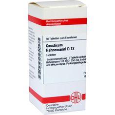 CAUSTICUM HAHNEMANNI D 12 Tabletten:   Packungsinhalt: 80 St Tabletten PZN: 02112163 Hersteller: DHU-Arzneimittel GmbH & Co. KG Preis:…