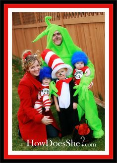 Awesome Dr Seuss Costumes for the Whole Family!