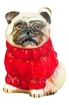 Joy to the World Collectibles 'Cable Knit Sweater Pug' Ornament available at #Nordstrom