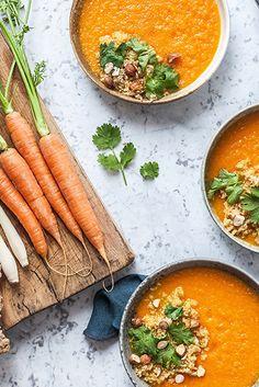 Detoxifying Carrot + Ginger soup from Madeline Lu.
