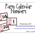 Freebie! Farm calendar numbers in an AAB pattern.  Perfect for working on patterns during calendar time....