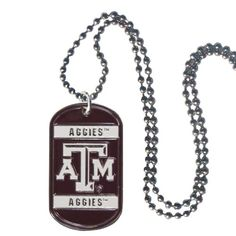 NCAA Texas AM Aggies Tag Necklace >>> You can find out more details at the link of the image.Note:It is affiliate link to Amazon.