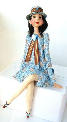 Ooak Art Doll Mixed Media