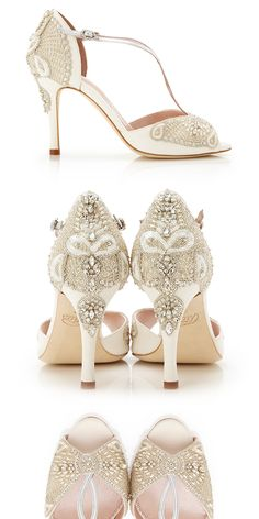 Aurelia Collection Beaded Bridal Shoes by Emmy London www.emmylondon.com