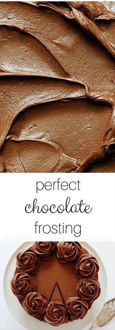 Perfect Chocolate Frosting (for brownies or cake)! Four unique and AMAZING recipes. This is the only Chocolate Frosting pin you need! Cupcake Recipes, Baking Recipes, Cupcake Cakes, Dessert Recipes, Brownie Recipes, Brownie Frosting, Chocolate Frosting Recipes, Chocolate Icing For Brownies, Ganache Frosting