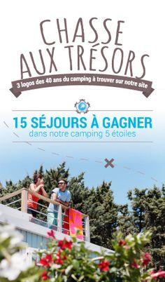 Esterel-caravaning : Chasse aux trésors : 3 logos des 40 ans du camping à trouver sur notre site