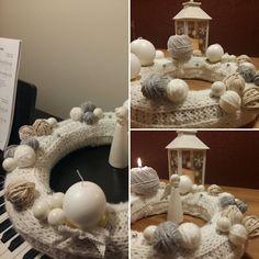 Advent Wreath, Diy Wreath, Christmas Wreaths, Grey, Crown Flower, Gray, Wreaths Crafts, Diy Garland