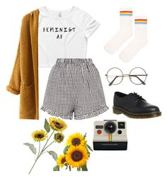 """untitled"" by harrietclaire on Polyvore featuring Topshop, WithChic, ZeroUV, Dr. Martens, Polaroid and Pier 1 Imports"