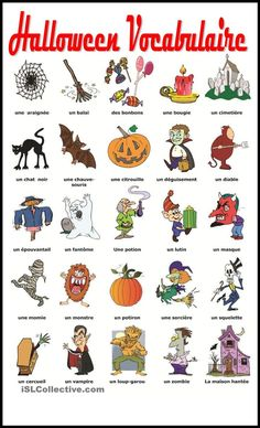 Halloween Vocabulaire | Gratuit FLE  worksheets