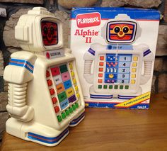 Alphie ll 2 Learning Computer Robot Playskool Hasbro 1990 From Mike Mozart's… 1970s Toys, Retro Toys, Vintage Toys, Vintage Ideas, 90s Childhood, Childhood Memories, Computer Robot, 1980s Kids, Old School Toys