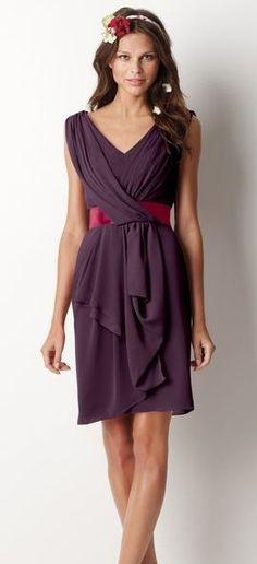 Watters 8518 - plum dress & wine ribbon - http://uk.watters.com/Product/WattersWatters/8518/#Colors:plum,wine