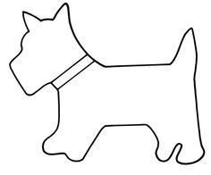 Scottie dog template I have this somewhere in a craft book