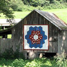 Barns with Grandmother's Flower Garden Block