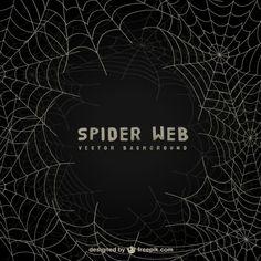 Spider web background on blackboard Free Vector