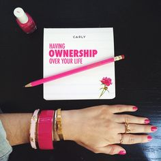Ownership. I adore her. I adore her blog. I adore this message. One of my favorite blogs.