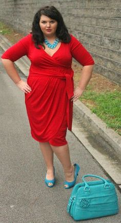 45 The combination of colours is perfection! Hems for Her Trendy PlusSize Fashion for Women: The Curvy Closet