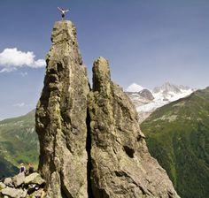 Escalada deportiva en Aiguilles Rouges - Alpes Franceses, Valle de Chamonix - FOTOSconLETRA.com - Victor Barro