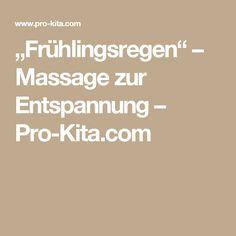 """""""Frühlingsregen"""" – Massage zur Entspannung – Pro-Kita.com"""