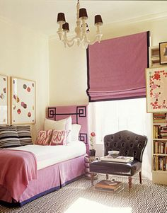 Radiant Orchid is sublime in a girls bedroom! By the talented Amanda Nisbet