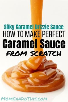 Homemade Caramel Sauce Real Easy Recipe For Homemade Caramel Sauce. Make Caramel Drizzle Sauce from scratch at home. Detailed instructions and printable recipe. Click through to print recipe and make your own drizzle sauche today! Caramel Sauce Easy, Homemade Caramel Sauce, Salted Caramel Sauce, Caramel Recipes, Candy Recipes, Homemade Recipe, Recipe For Carmel Sauce, Carmel Topping Recipe, Caramel Sauce For Apples