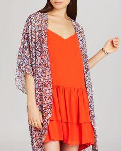 BCBGeneration Floral Print Kimono Top